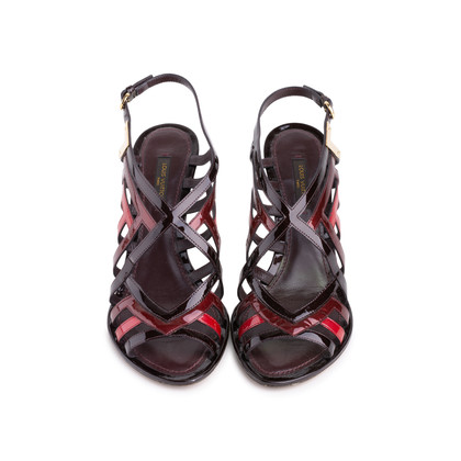 Authentic Pre Owned Louis Vuitton Patent Cut-Out Sandals (PSS-618-00015)