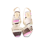 Authentic Second Hand Gianni Versace Satin Crystal Encrusted Slingback Sandals (PSS-618-00016) - Thumbnail 0