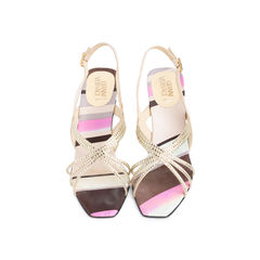 Satin Crystal Encrusted Slingback Sandals