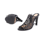 Authentic Second Hand Donna Karan Mesh Lace-up Cut-Out Heel (PSS-618-00019) - Thumbnail 1