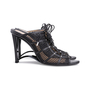 Authentic Second Hand Donna Karan Mesh Lace-up Cut-Out Heel (PSS-618-00019) - Thumbnail 4