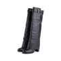 Authentic Second Hand Chanel Quilted Overlay Knee Boots (PSS-618-00020) - Thumbnail 1