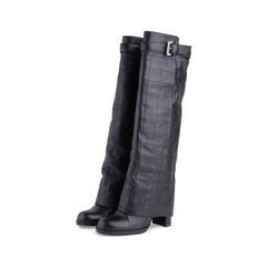 Chanel quilted overlay knee boots 2?1551759489