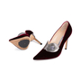 Authentic Second Hand Manolo Blahnik Velvet Pointed Pumps (PSS-618-00010) - Thumbnail 1