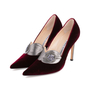 Authentic Second Hand Manolo Blahnik Velvet Pointed Pumps (PSS-618-00010) - Thumbnail 3