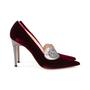 Authentic Second Hand Manolo Blahnik Velvet Pointed Pumps (PSS-618-00010) - Thumbnail 4