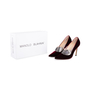 Authentic Second Hand Manolo Blahnik Velvet Pointed Pumps (PSS-618-00010) - Thumbnail 7