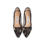 Authentic Second Hand Manolo Blahnik BB Lace Pointed Pumps (PSS-618-00011) - Thumbnail 0
