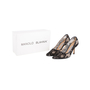 Authentic Second Hand Manolo Blahnik BB Lace Pointed Pumps (PSS-618-00011) - Thumbnail 6