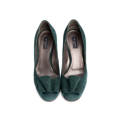 Authentic Second Hand Etro Bow Suede Pumps (PSS-618-00013)