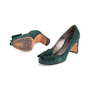 Authentic Second Hand Etro Bow Suede Pumps (PSS-618-00013) - Thumbnail 4
