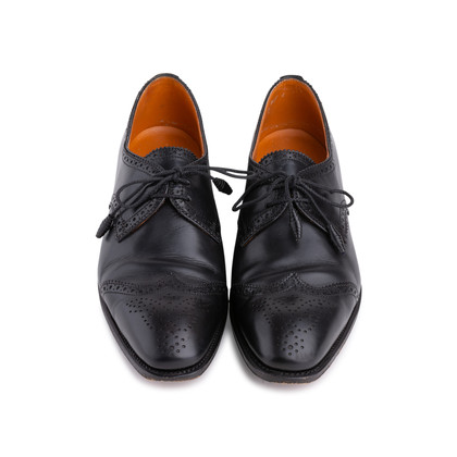 Authentic Second Hand Carmina Black Oxford Brogues (PSS-620-00001)
