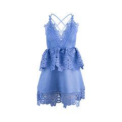 Lace Peplum Trim Dress