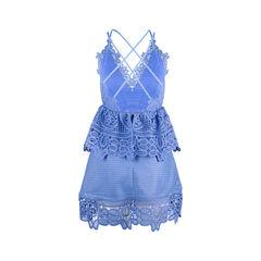 Self portrait lace peplum trim dress 2?1551853073