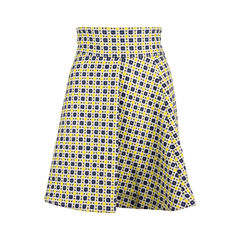 Embroidered Pleat Skirt