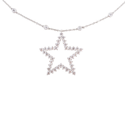 Authentic Second Hand Tiffany & Co Star Diamond Pendant (PSS-622-00003)