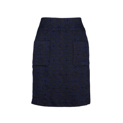 Authentic Second Hand Dries Van Noten Embroidered Pencil Skirt (PSS-608-00002)