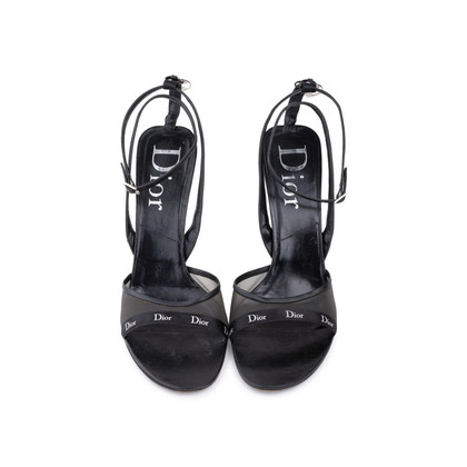 Authentic Second Hand Christian Dior Black Strappy Sandals (PSS-625-00004)