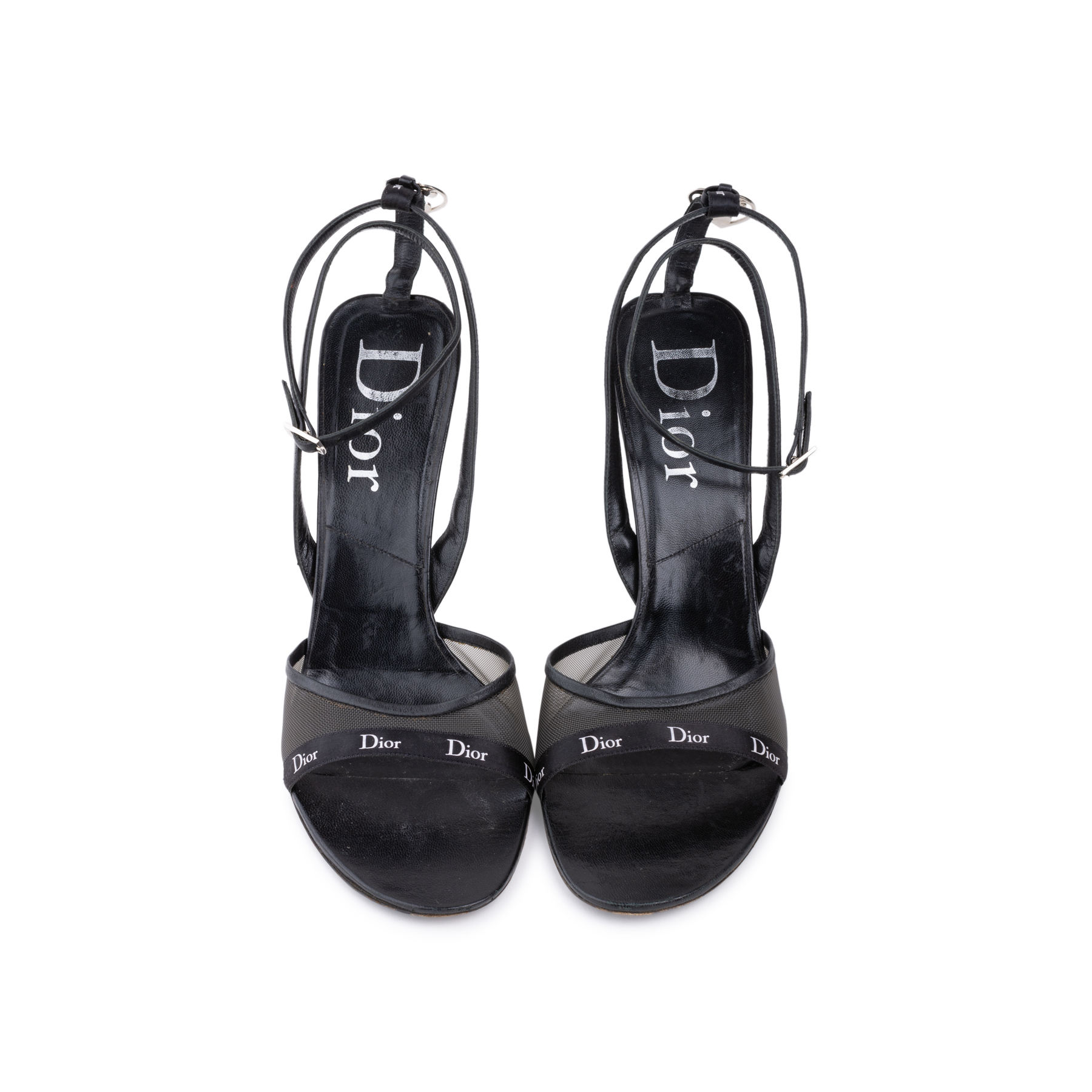 b9c705e662a Authentic Second Hand Christian Dior Black Strappy Sandals (PSS-625-00004)