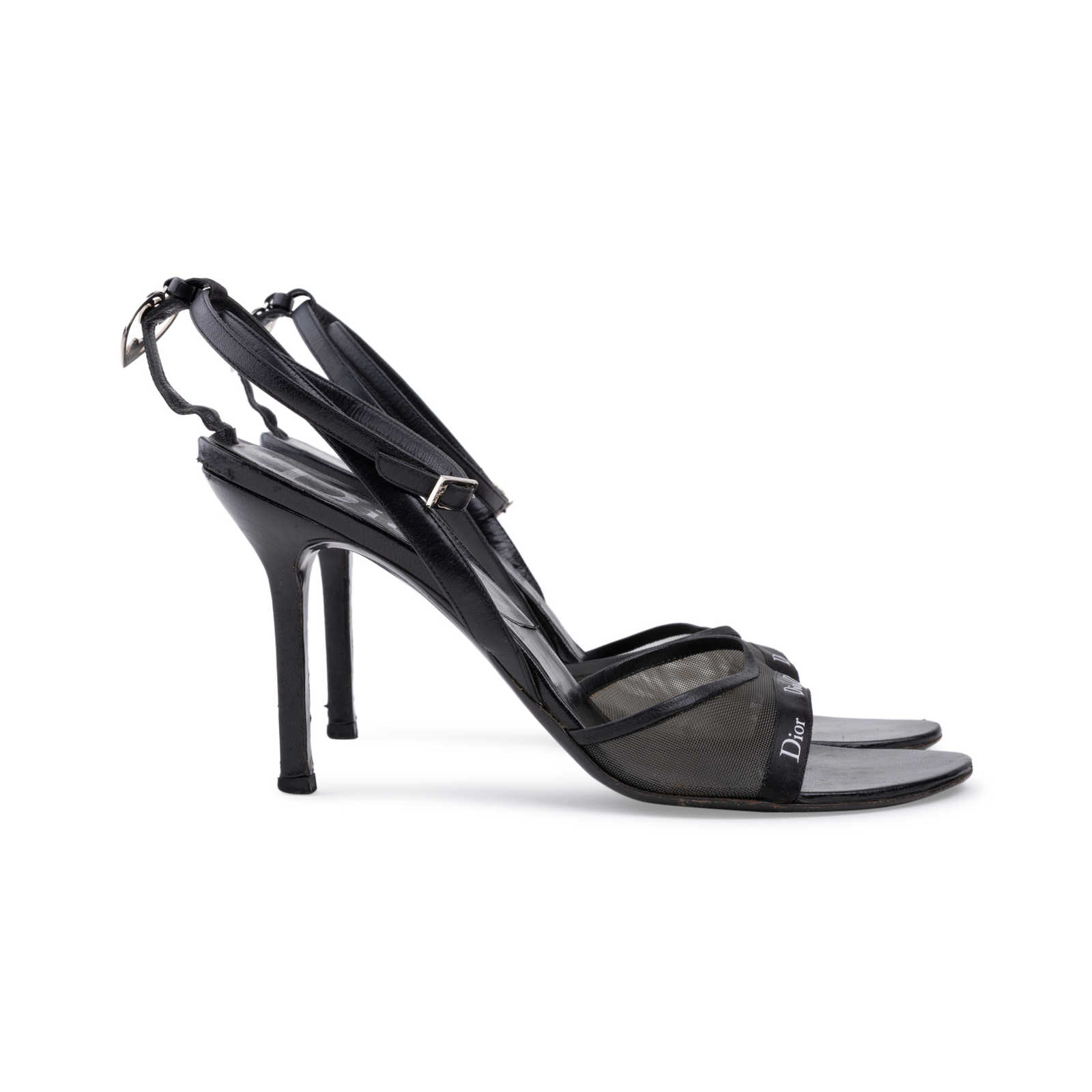 bcf93f45ada ... Authentic Second Hand Christian Dior Black Strappy Sandals  (PSS-625-00004) ...