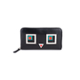 Authentic Pre Owned Fendi Square Eyes Zip Around Wallet (PSS-636-00008) - Thumbnail 0