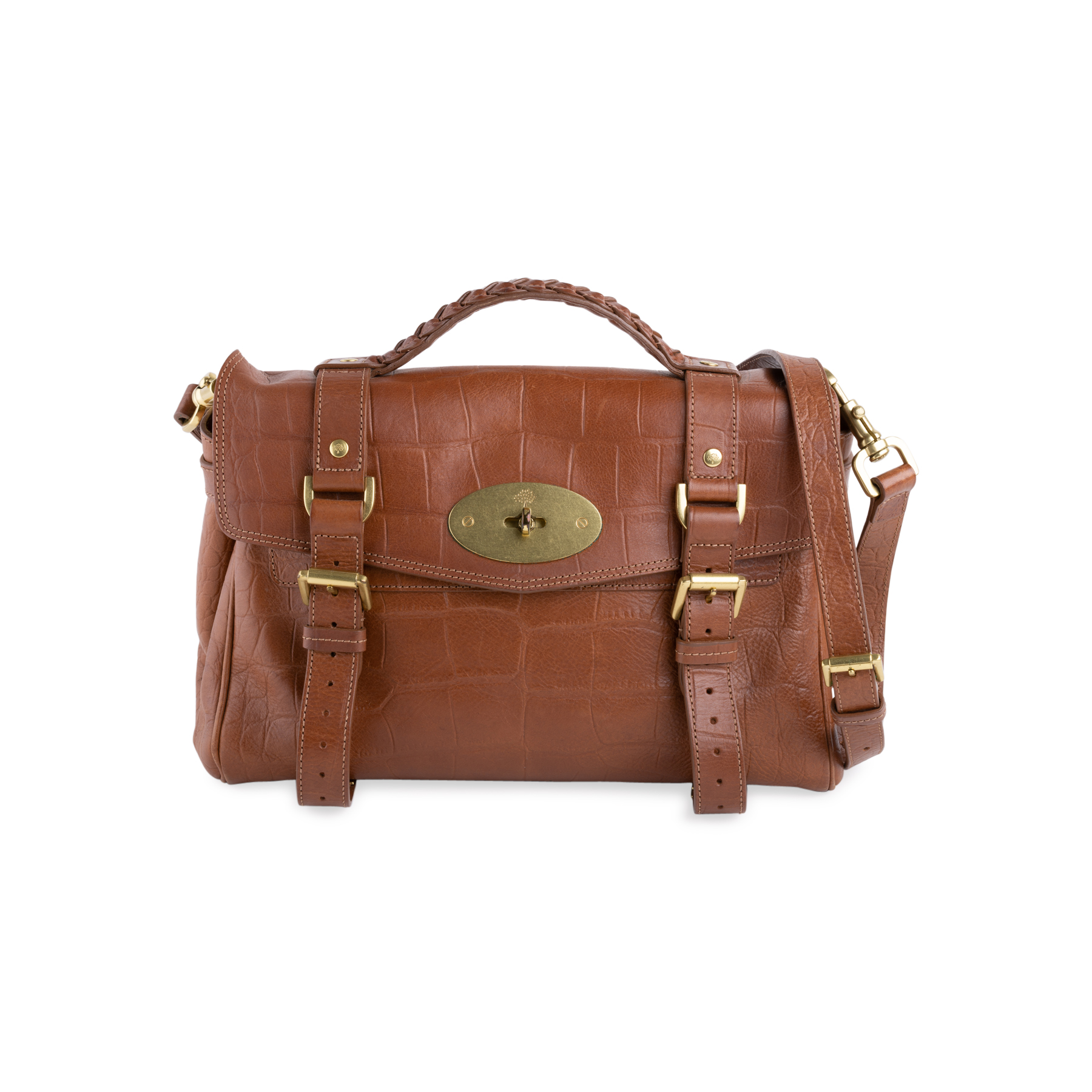 eb93758a7b Authentic Second Hand Mulberry Alexa Croc Embossed Satchel (PSS-629-00001)  - THE FIFTH COLLECTION