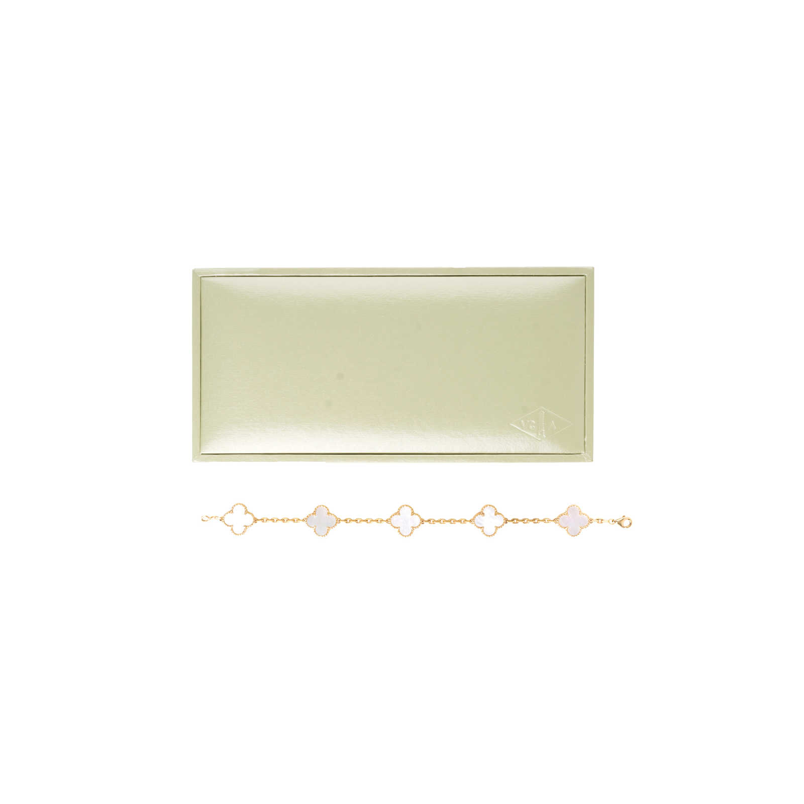 d924779e3a42d ... Authentic Second Hand Van Cleef and Arpels Vintage Alhambra Mother of Pearl  Bracelet (PSS-
