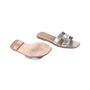 Authentic Second Hand Hermès Metallic Epsom Oran Sandals (PSS-126-00139) - Thumbnail 2