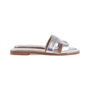 Authentic Second Hand Hermès Metallic Epsom Oran Sandals (PSS-126-00139) - Thumbnail 4
