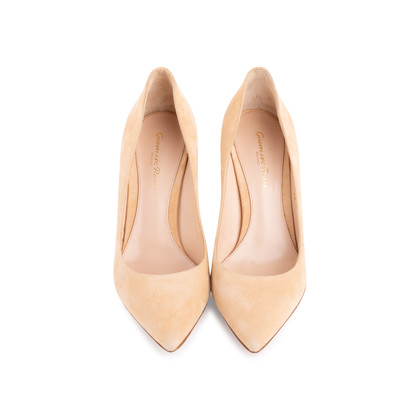 Authentic Second Hand Gianvito Rossi 85 Suede Pumps (PSS-126-00141)