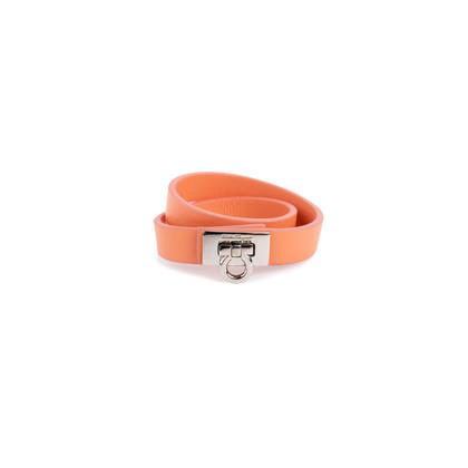 Authentic Pre Owned Salvatore Ferragamo Gancini Lock Wrap Bracelet (PSS-630-00009)