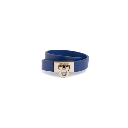 Authentic Second Hand Salvatore Ferragamo Gancini Lock Wrap Bracelet (PSS-630-00010)