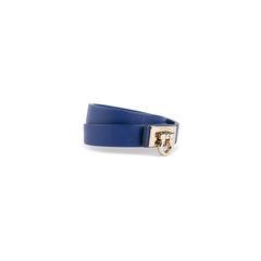 Salvatore ferragamo gancini lock wrap bracelet blue 2?1552277304