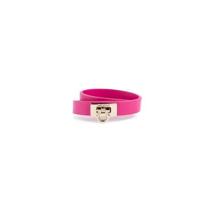 Authentic Pre Owned Salvatore Ferragamo Gancini Lock Wrap Bracelet (PSS-630-00014)