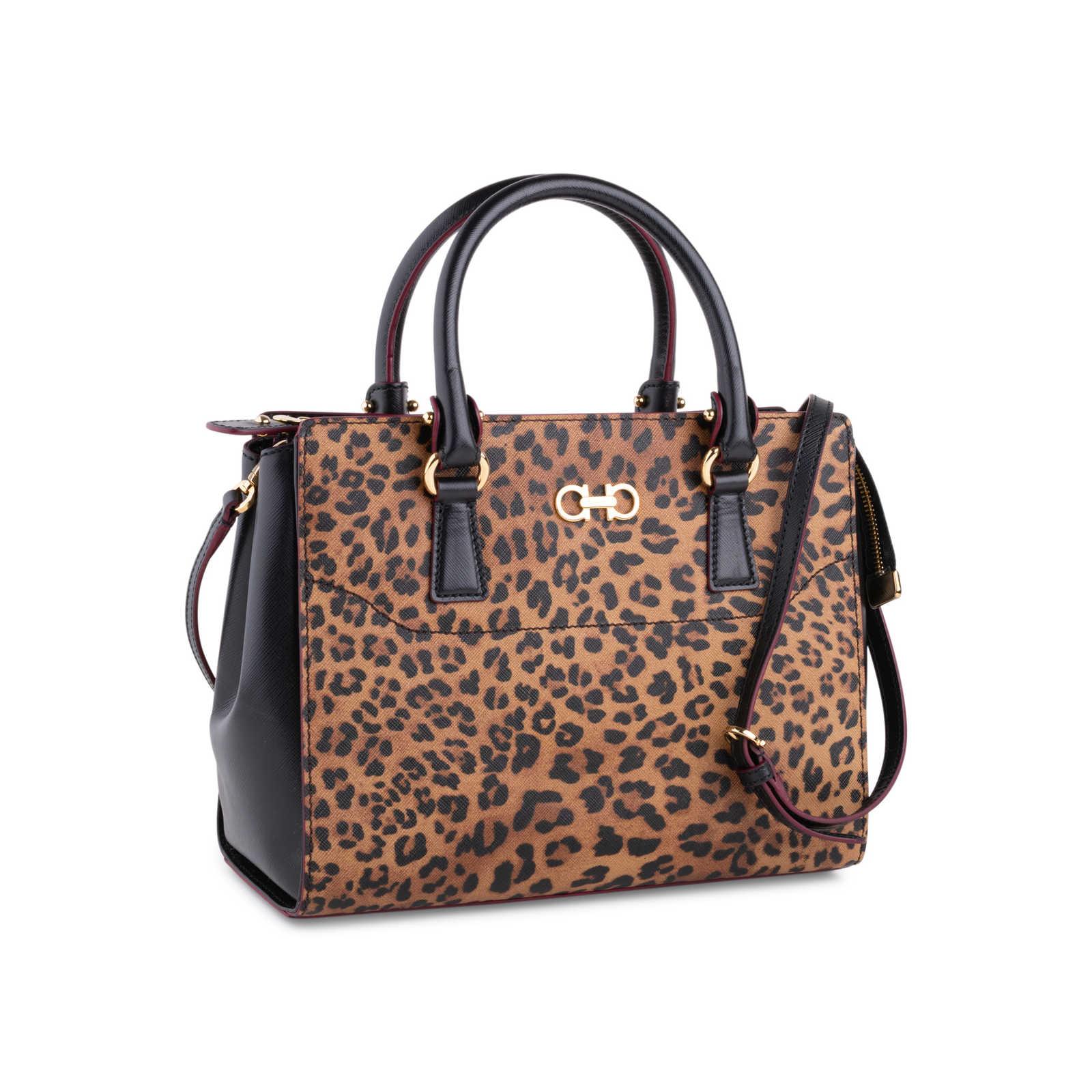 b0e19017b0 ... Authentic Second Hand Salvatore Ferragamo Leopard Beky Tote  (PSS-630-00015) ...