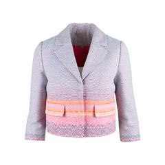 Ombre Woven Cropped  Jacket