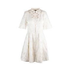 Embellished Brocade Dress