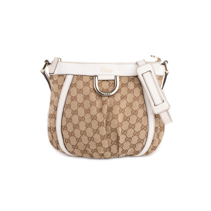 Authentic Second Hand Gucci Canvas D-Ring Crossbody Bag (PSS-632-00002)
