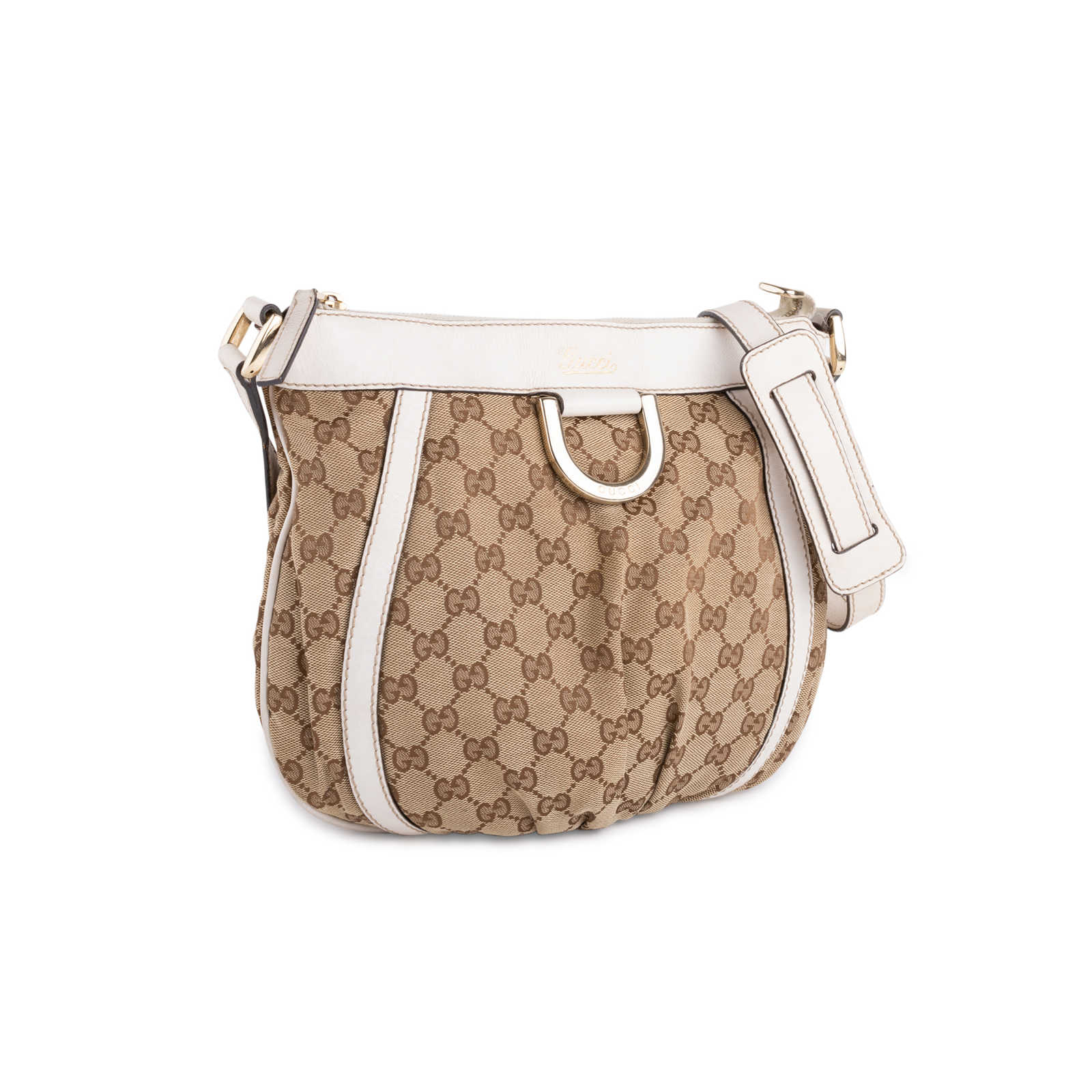 3a12a701d53 ... Authentic Second Hand Gucci Canvas D-Ring Crossbody Bag (PSS-632-00002  ...