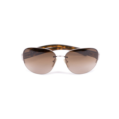 Authentic Second Hand Prada Half-Rimmed Sunglasses (PSS-624-00003)