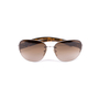 Authentic Second Hand Prada Half-Rimmed Sunglasses (PSS-624-00003) - Thumbnail 0