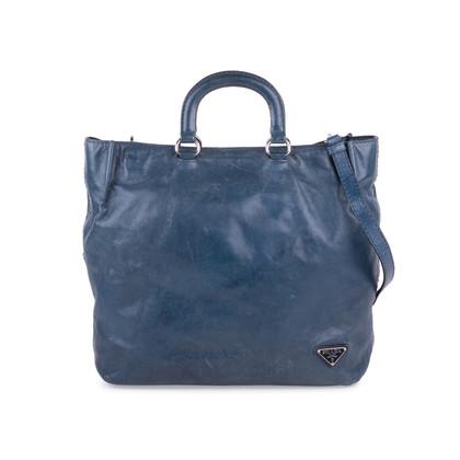 Authentic Second Hand Prada Vitello Shine Shopper Bag (PSS-624-00004)