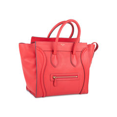 Celine mini luggage tote red 2?1552366250