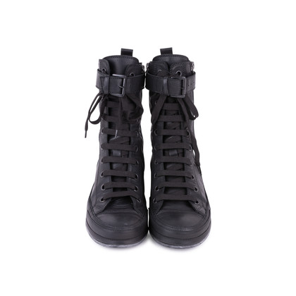 Authentic Pre Owned Ann Demeulemeester Double Zip Combat Boots (PSS-628-00006)
