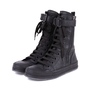 Authentic Pre Owned Ann Demeulemeester Double Zip Combat Boots (PSS-628-00006) - Thumbnail 1