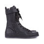 Authentic Pre Owned Ann Demeulemeester Double Zip Combat Boots (PSS-628-00006) - Thumbnail 2