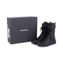Authentic Pre Owned Ann Demeulemeester Double Zip Combat Boots (PSS-628-00006) - Thumbnail 5