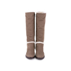 Suede Shearling Boots