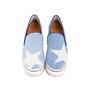 Authentic Pre Owned Stella McCartney Binx Star Denim Platform Slip-On Sneakers (PSS-626-00020) - Thumbnail 0