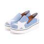 Authentic Pre Owned Stella McCartney Binx Star Denim Platform Slip-On Sneakers (PSS-626-00020) - Thumbnail 5